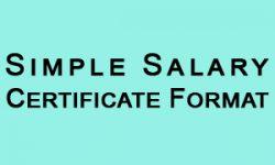 Salary Certificate Format