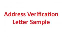 Address Verification Letter Format